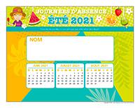 Liste des absences-Été 2021-1 enfant