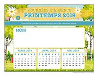 Liste des absences-Printemps 2019-1 enfant