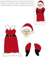 Ma mini mère Noël en couleurs