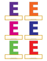 Macarons-Lettre E
