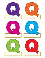 Macarons-Lettre Q