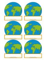 Macarons d'identification-Jour de la Terre