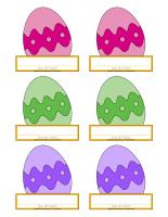 Macarons d'identification-Pâques