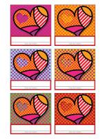 Macarons d'identification-Saint-Valentin 2019