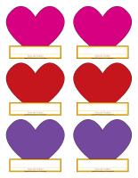 Macarons d'identification Saint-Valentin