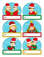 Macarons d'identification interactifs-Noël