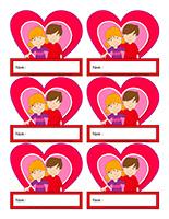 Macarons d'identification interactifs-Saint-Valentin
