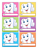 Macarons d'identification interactifs-Santé dentaire