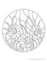 Mandalas-Fleurs dessin coloriage