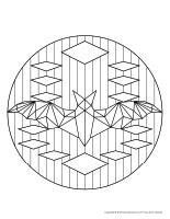 Mandalas-Les chauvesouris