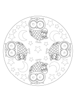 Mandalas-Les hiboux