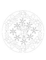 Mandalas-Les vacances de Noël