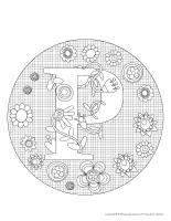 Mandalas-Lettre P dessin activité