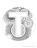 Mandalas-Lettre T