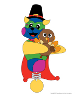 Marionnettes-Action de grace avec Poni