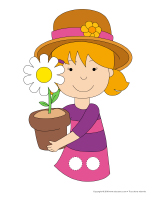 Marionnettes à doigts-Fleurs jeu activité