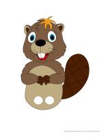 Marionnettes à doigts-Les castors-2