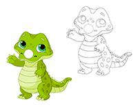 Marionnettes à doigts-Les crocodiles