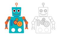 Marionnettes à doigts-Les robots