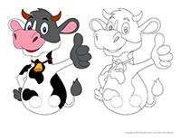 Marionnettes à doigts-Les vaches
