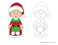 Marionnettes a doigts-Mere Noel