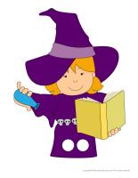 Marionnettes à doigts-Sorcière Halloween