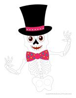Marionnettes à doigts-Squelette Halloween