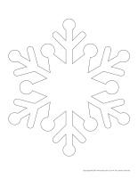Marionnettes à fabriquer-Petits flocons de neige