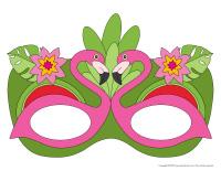 Masques-Flamants roses
