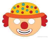 Coloriage Masque Clown.Les Clowns Activites Pour Enfants Educatout