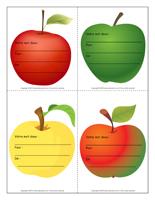 Mémo pommes douceur colorées
