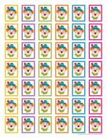 Mémos et timbres de clowns-2