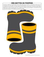 Mes bottes de pompier