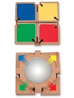 Miroir avec volets de couleur-1