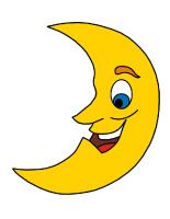 Modèle - lune et soleil