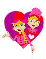 Modèles-Les lutins de la Saint-Valentin