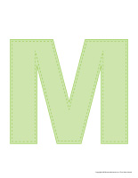 Modèles-Lettre M