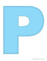 Modèles-Lettre P bricolae décoration activité