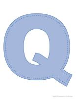 Modèles-Lettre Q