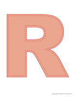 Modèles-Lettre R