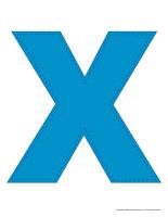 Modèles-Lettre X