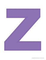 Modèles-Lettre Z