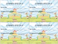 Modèles cartons d'invitation - La rentrée