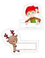 Modèles-marque-places de Noël