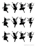Modèles silhouettes de fées
