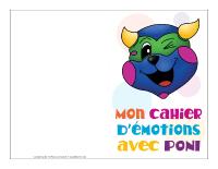 Mon cahier d'émotions avec Poni