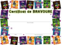 Mon certificat de bravoure