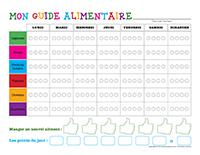 Mon guide alimentaire à colorier