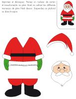 Mon mini père Noël en couleurs