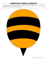 Morceaux abeille géante
